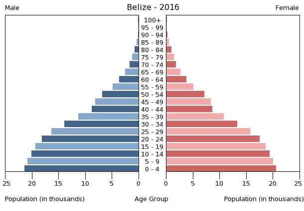 Population Data Census 2016 Belize